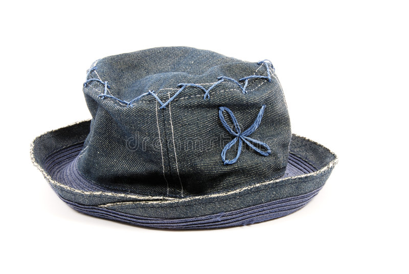 Denim Hat stock image