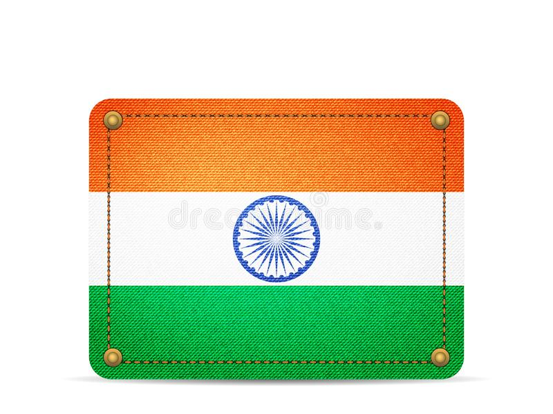 Denim India flag vector illustration