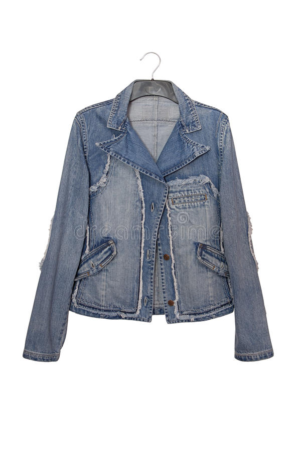 Denim jacket royalty free stock photography