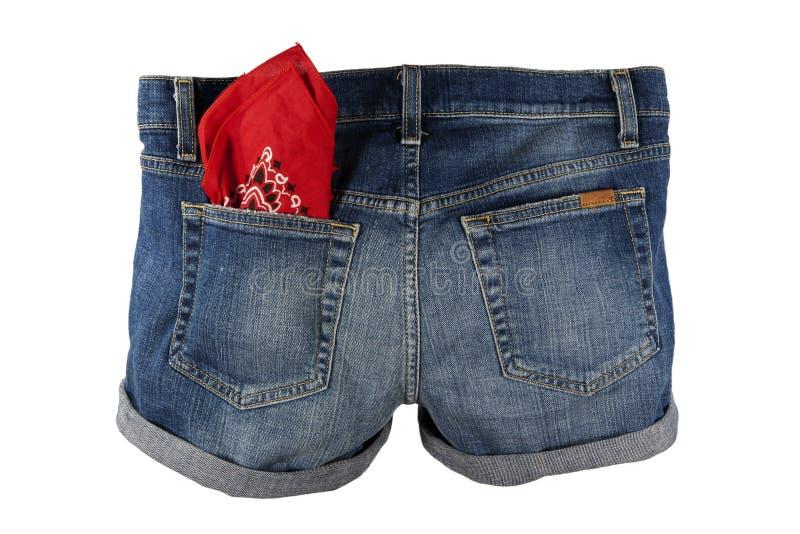 Download Denim Jean Shorts stock image. Image of bandana, jean - 32074427