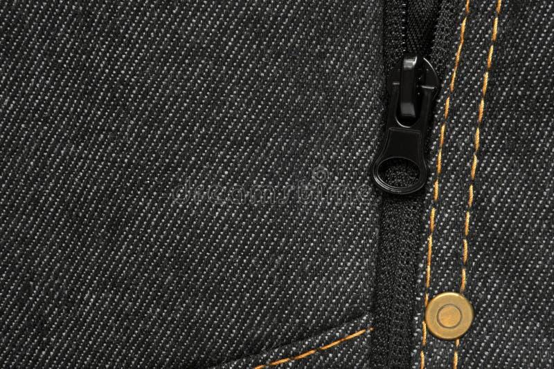 Denim jeans achtergrond - macro van een jeans textuur stock afbeelding