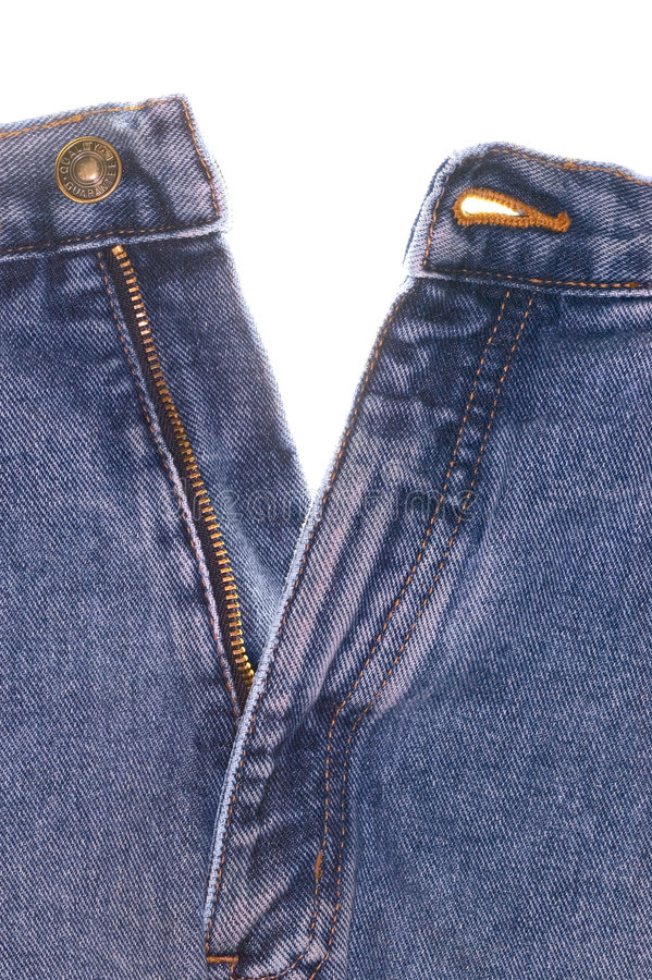 Denim Jeans Front Stock Photo