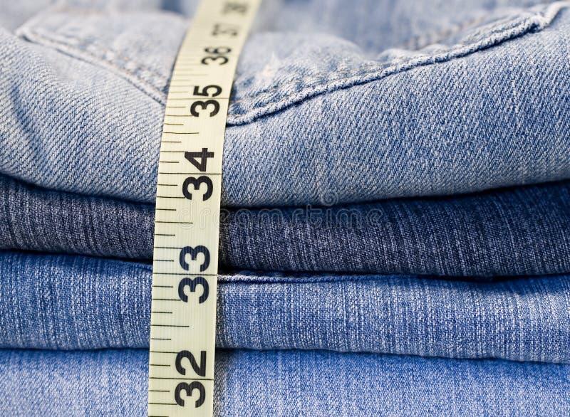 Denim Jeans Measuring Tape Stock Photos