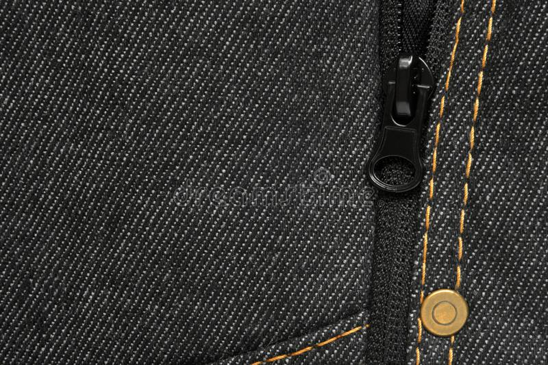 Denim jeans sfondo - macro di una texture di jeans immagine stock