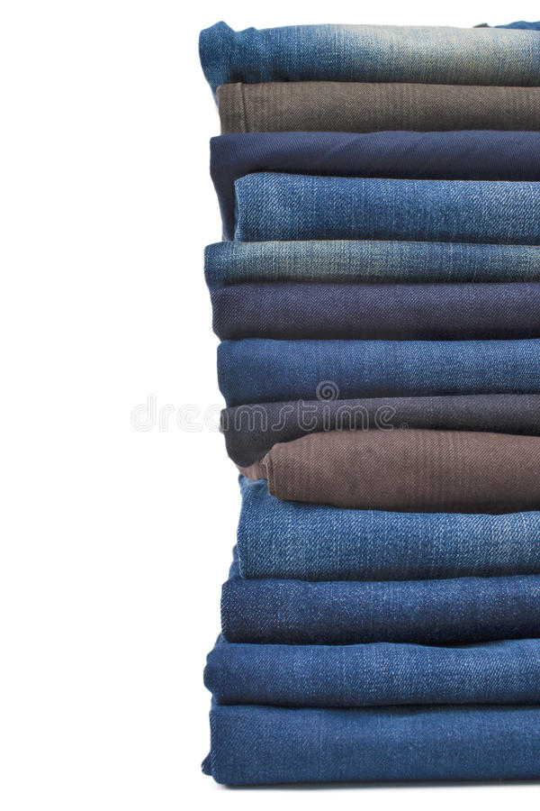 Download Denim jeans stack stock image. Image of group, bale, pure - 29039399