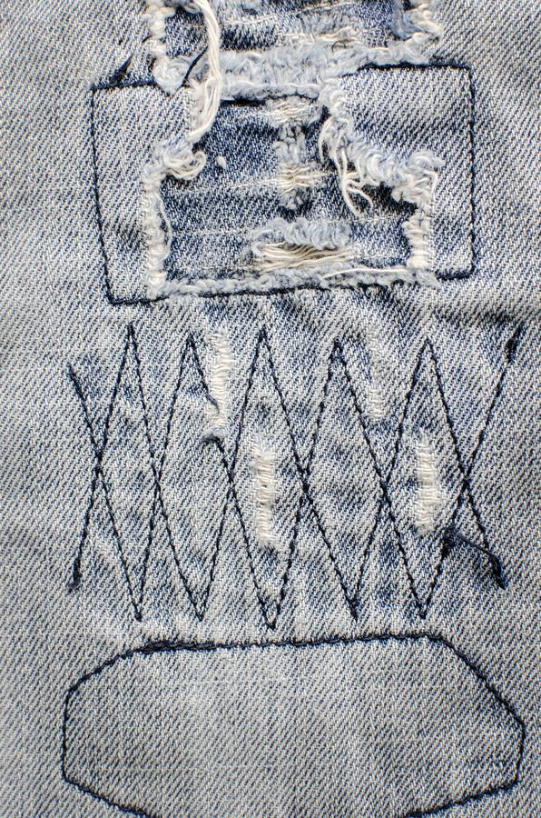 Denim jeans texture with old torn. Denim jeans texture or denim jeans background with old torn royalty free stock photo