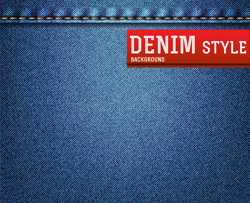Denim, jeanstextuur vector illustratie