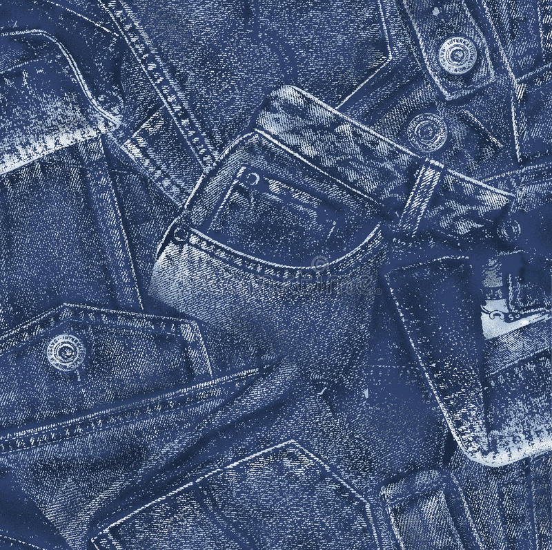 Denim material,. I drew denim cloth realistically royalty free stock photos