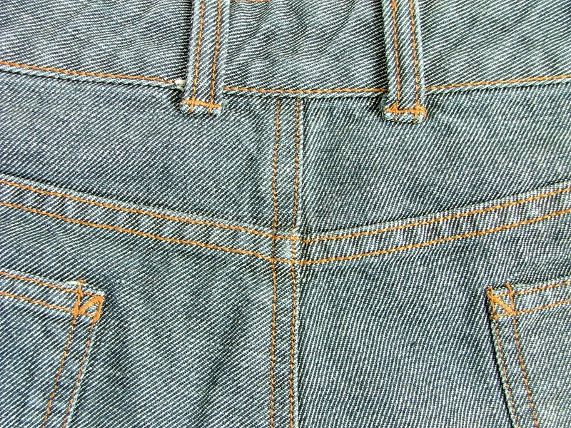 Denim pants. Behind part of denim pants royalty free stock images