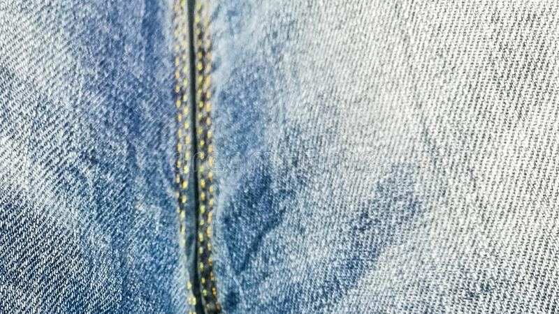 Denim pattern, fabric background with blur and sharpness areas.  royalty free stock photography