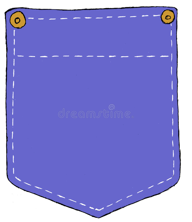 Denim Pocket vector illustration