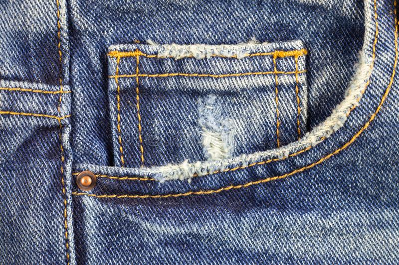 Denim pocket, Blue jeans. Abstract, apparel, back, background, canvas, casual, closeup, cloth, clothes, clothing, cotton, design, detail, fabric, fashion stock photo