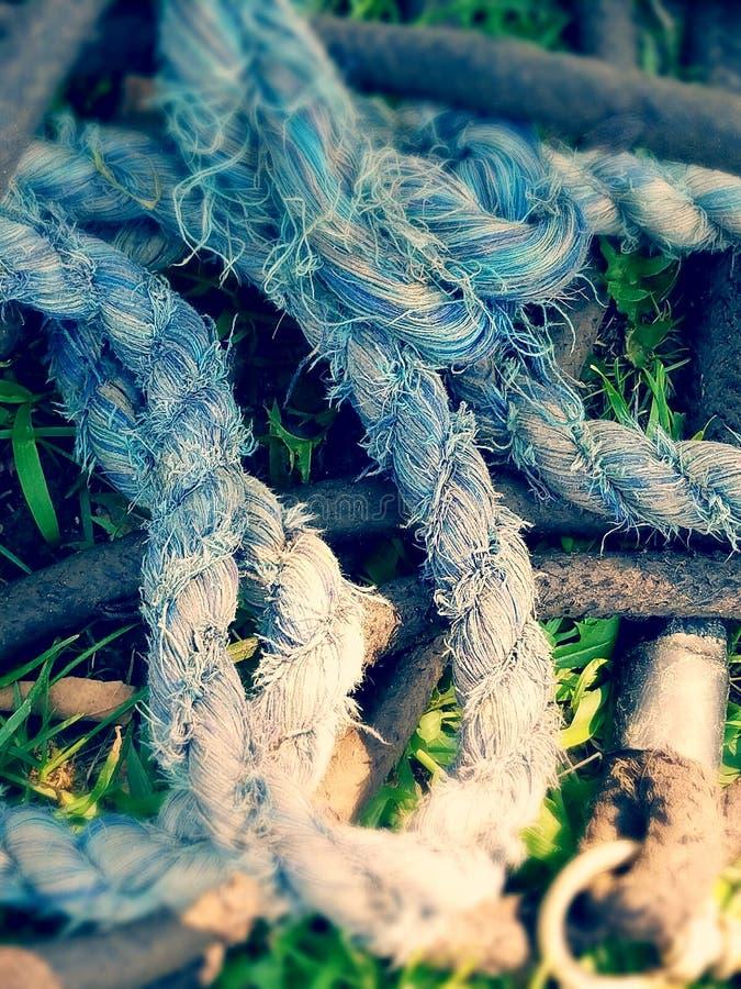 Denim rope stock photo