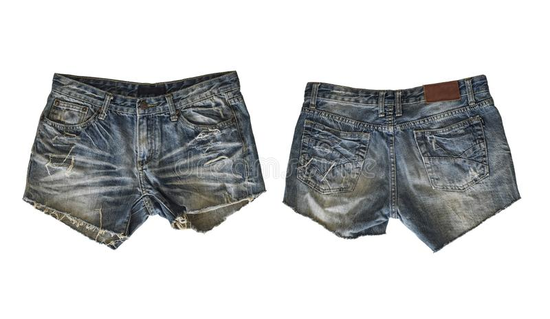 Denim shorts for female royalty free stock photos