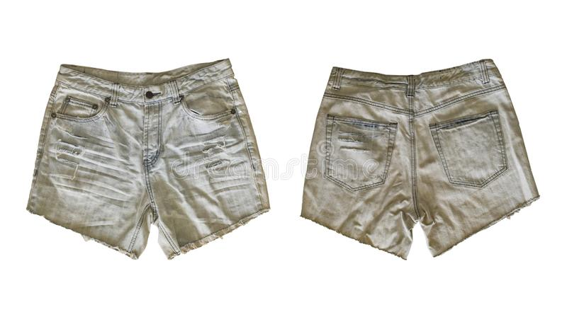 Denim shorts for female stock photography