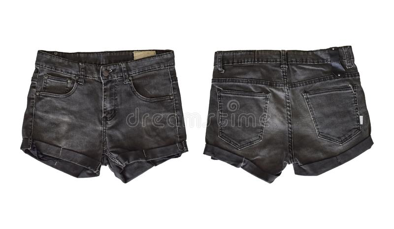Denim shorts for female stock image