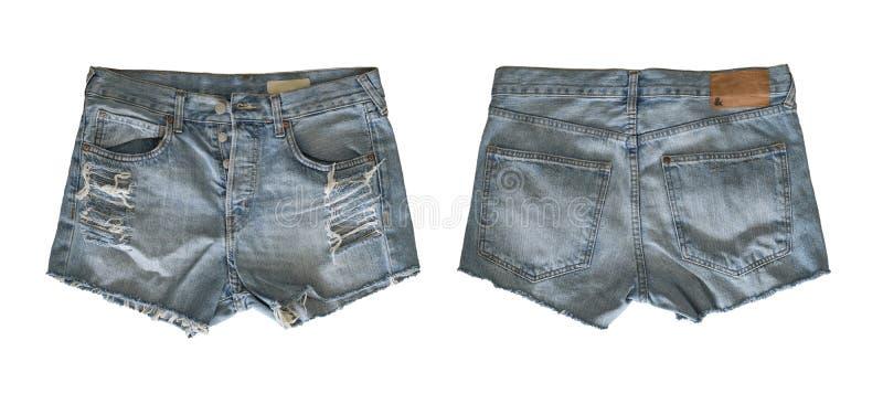 Denim shorts for female stock photo