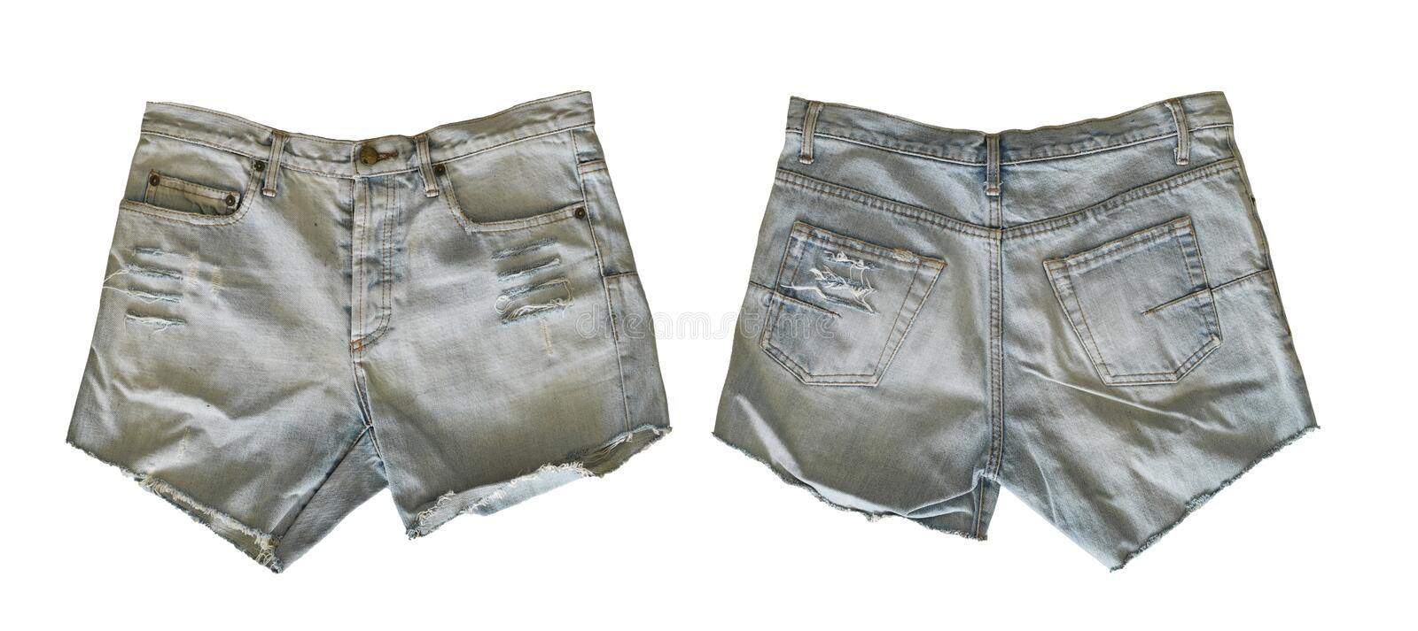Denim shorts for female royalty free stock photo