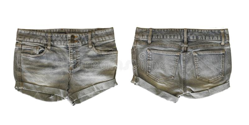 Denim shorts for female royalty free stock photography