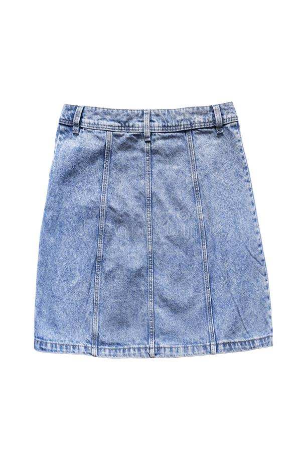 Denim skirt isolated stock photography