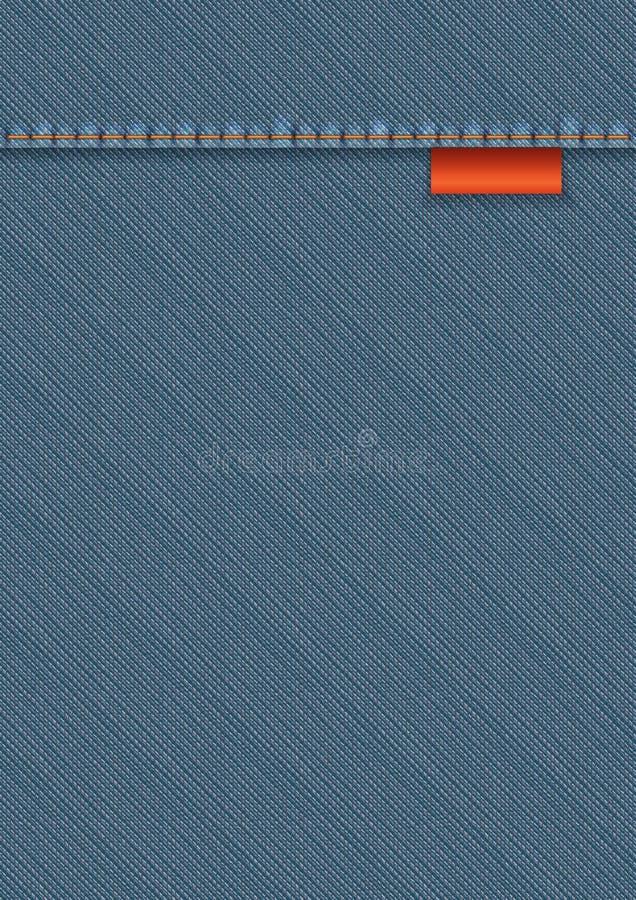 Denim Textile Template royalty free illustration