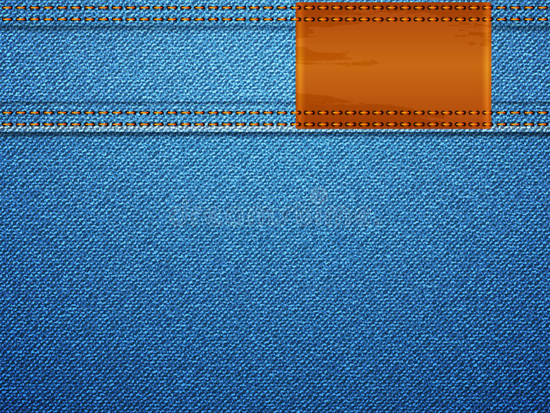Download Denim Texture And Label Royalty Free Stock Image - Image: 25516956