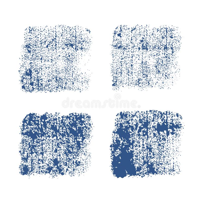 Denimimpressum Vektorschmutzbeschaffenheit auf weißem Hintergrund stockbild
