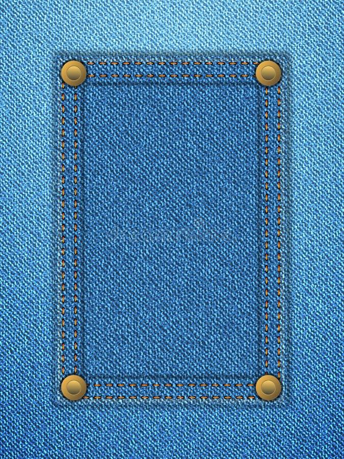 Denimkennsatz-Hintergrundvertikale stock abbildung