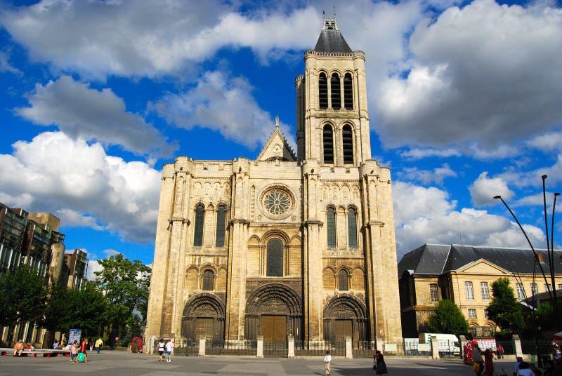 Denis bazyliki główny plac świętego obraz stock