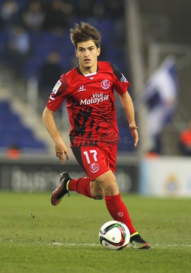Denis Suarez de Sevilla FC fotografía de archivo libre de regalías