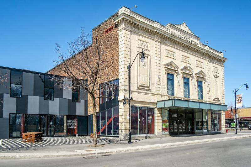 Denise Pelletier Theatre royaltyfri bild