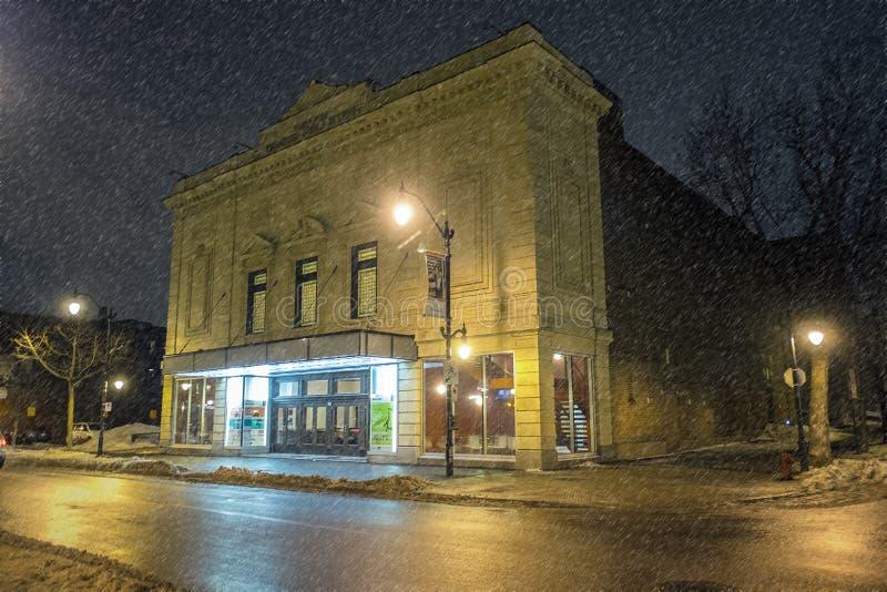 Denise Pelletier Theatre przy nocą obrazy royalty free
