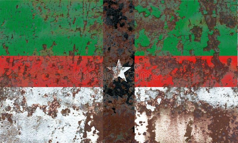 Denison miasta dymu flaga, Teksas stan, Stany Zjednoczone Ameryka zdjęcia royalty free