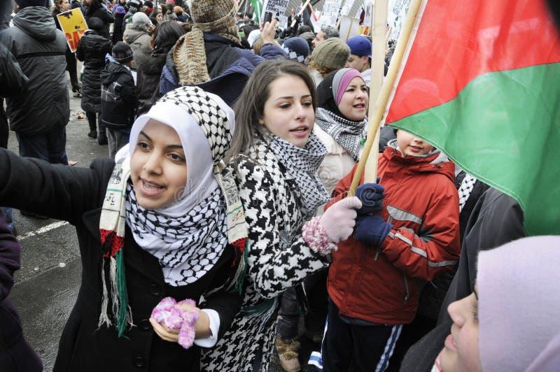DenIsrael ockupationen av Gaza samlar. arkivbild