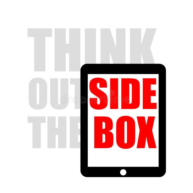 Denk buiten de doos royalty-vrije illustratie