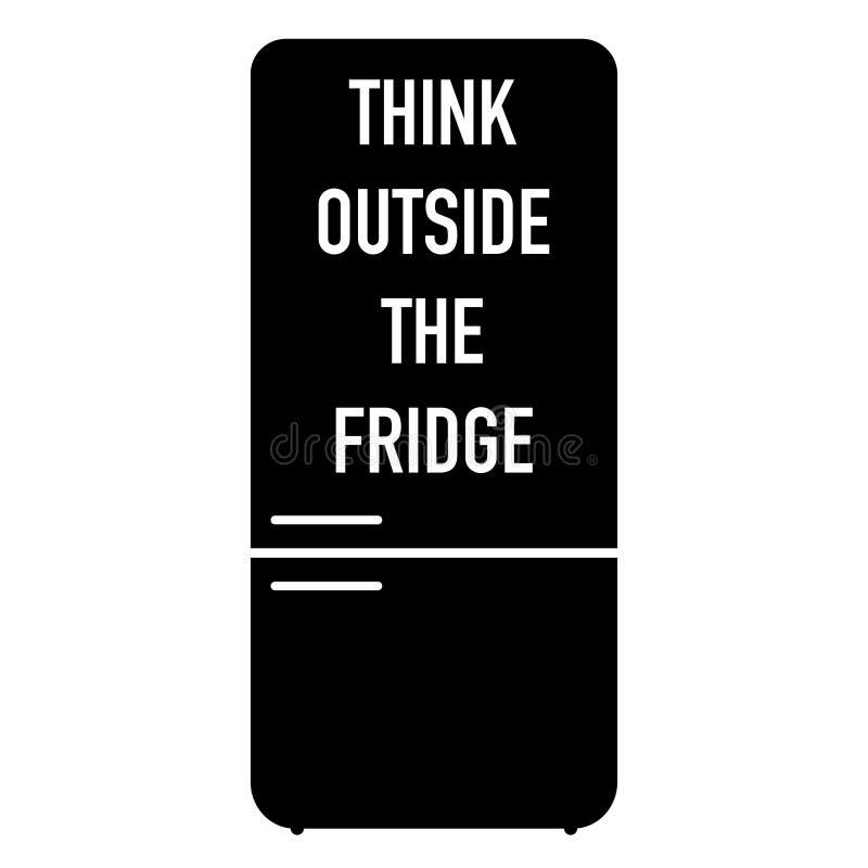 Denk buiten de het verliesmotivatie van het koelkastgewicht stock illustratie