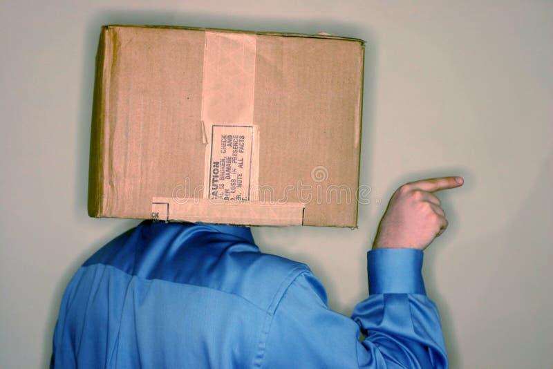 Denk buiten doos 2 stock foto's