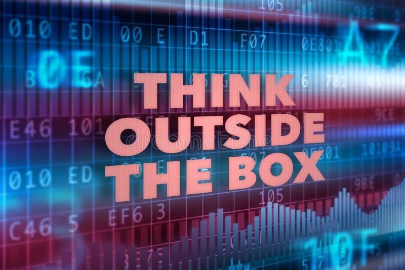 Denk buiten het doosconcept royalty-vrije illustratie