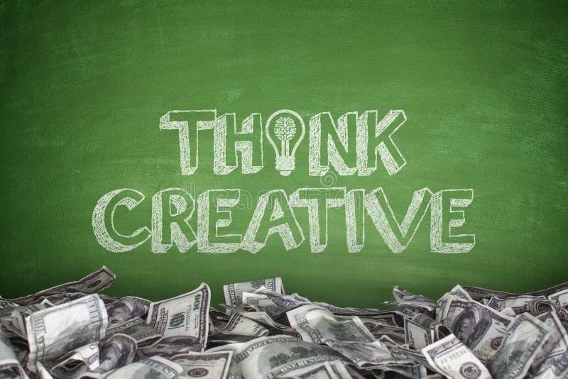 Denk Creatief op Bord royalty-vrije illustratie