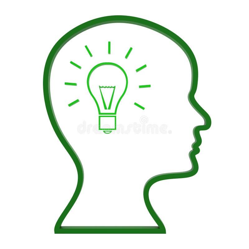 Denk de Ideeën wijst op de Innovaties en Creativiteit nadenken stock illustratie