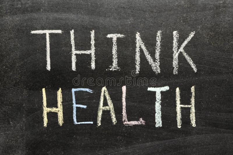 Denk gezondheid stock fotografie