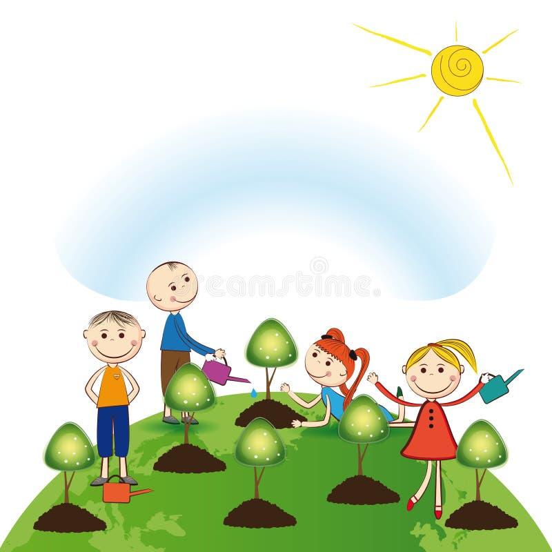Denk groen royalty-vrije illustratie