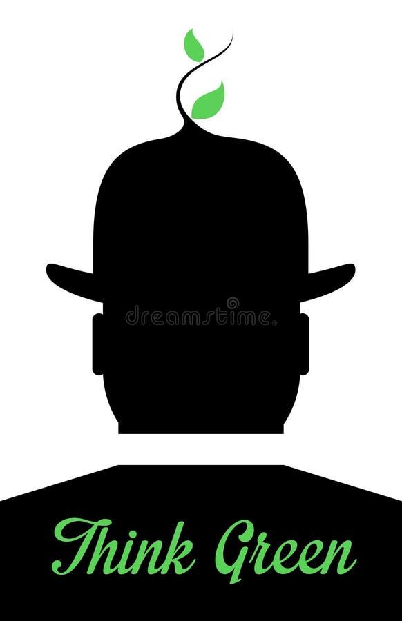 Denk Groen vector illustratie
