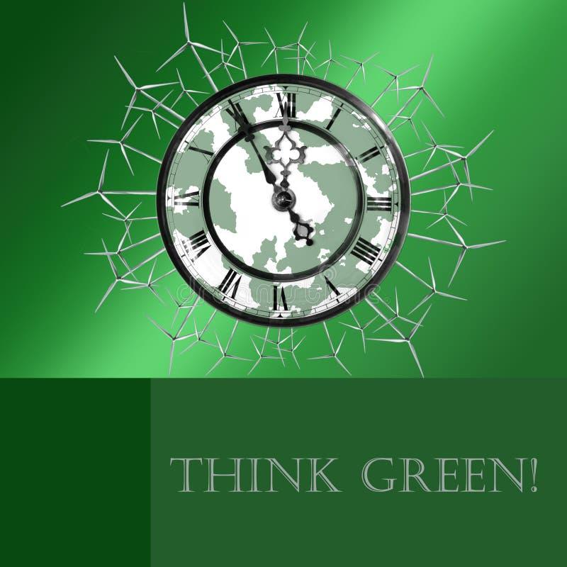 Denk Groen! royalty-vrije illustratie