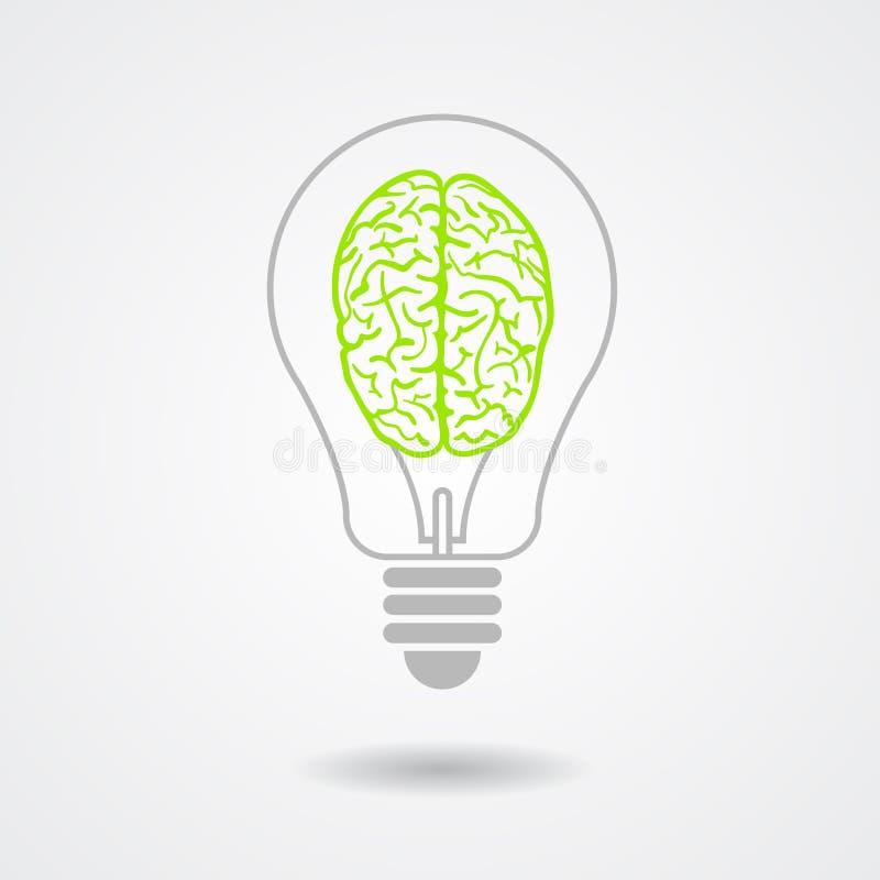 Denk groen ecologisch concept vector illustratie