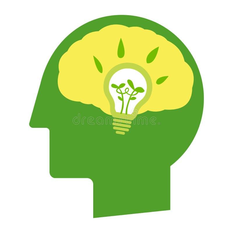 Denk groen ga stock illustratie