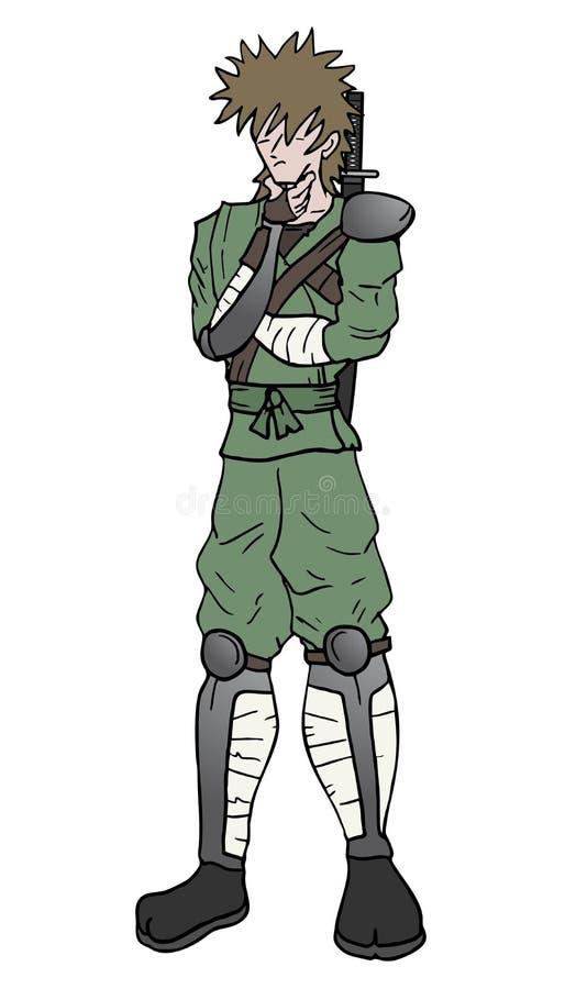 Denk ninja vector illustratie