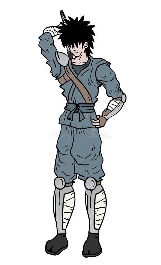 Denk ninja royalty-vrije illustratie