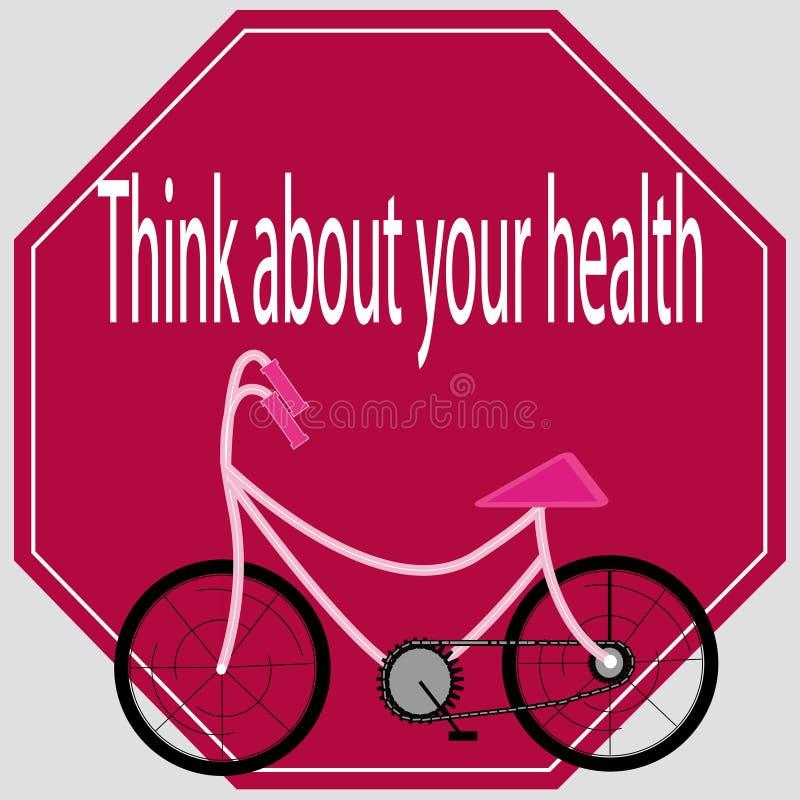 Denk over uw gezondheid royalty-vrije stock foto's