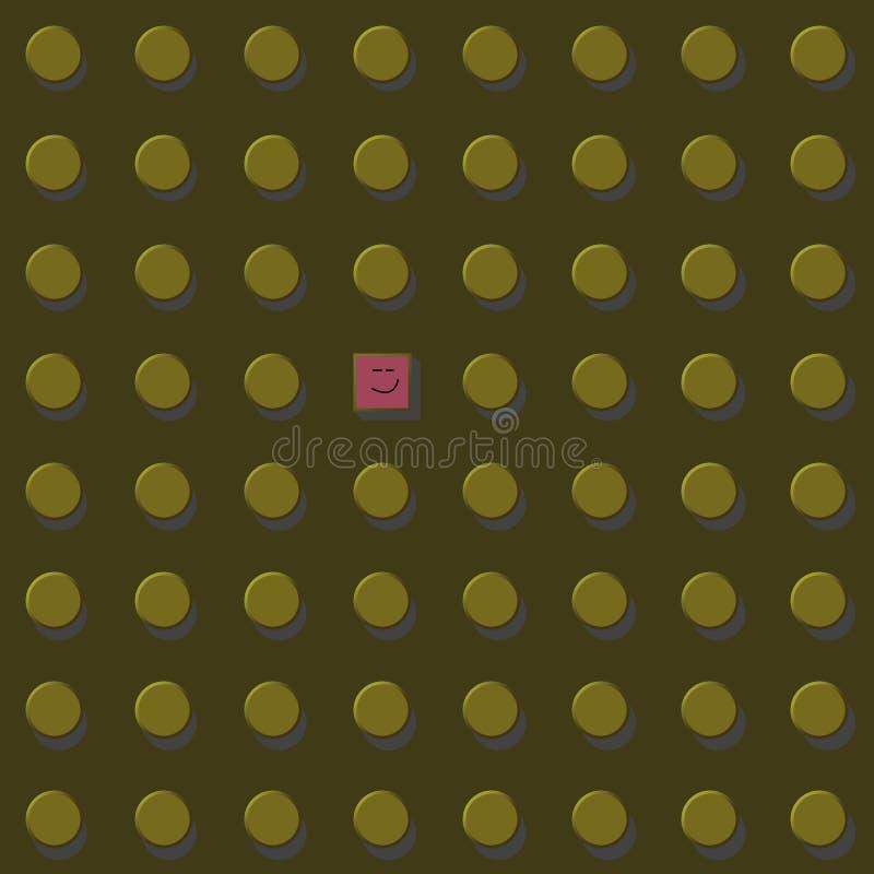 Denk vector grafische illustratie eps10 differen, geel goud De vrijheid en ontsnapt aan het systeemconcept stock illustratie